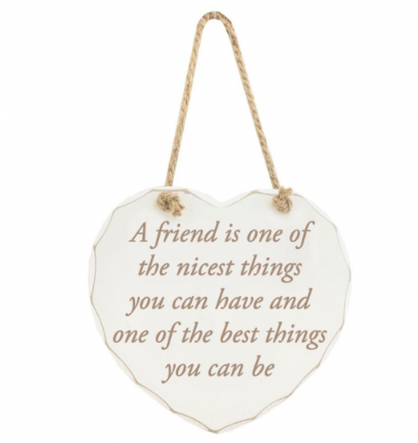 A FRIEND NICEST THINGS PLAQUE